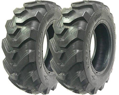 Set of 2 New ZEEMAX Heavy Duty 10.5/80-18 /10PR Skid Steer Backhoe Loader Tire -12003 (Backhoe Steer)