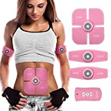 Havenfly [New Version 2017] Abdominal Muscle Toner Abs Training Gear Body Fit Toning Belt Wireless Muscle Exercise For Abdomen/Arm/Leg Training Smart muscle Trainer Portable Home/Office (M1)