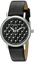 Stuhrling Original Women's 799.01 Symphony Analog Display Swiss Quartz Black Watch