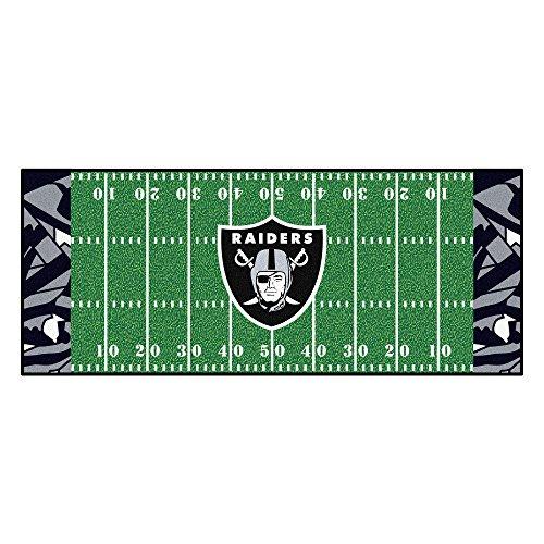 FANMATS NFL Oakland Raiders NFL-Oakland Raidersfootball Field Runner, Team Color, One ()