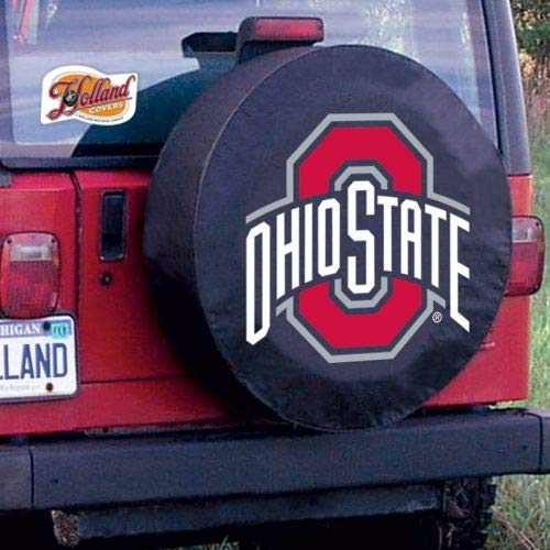 (Holland Bar Stool TCJOhioStBK-27 x 8 Ohio State Tire Cover-Black)