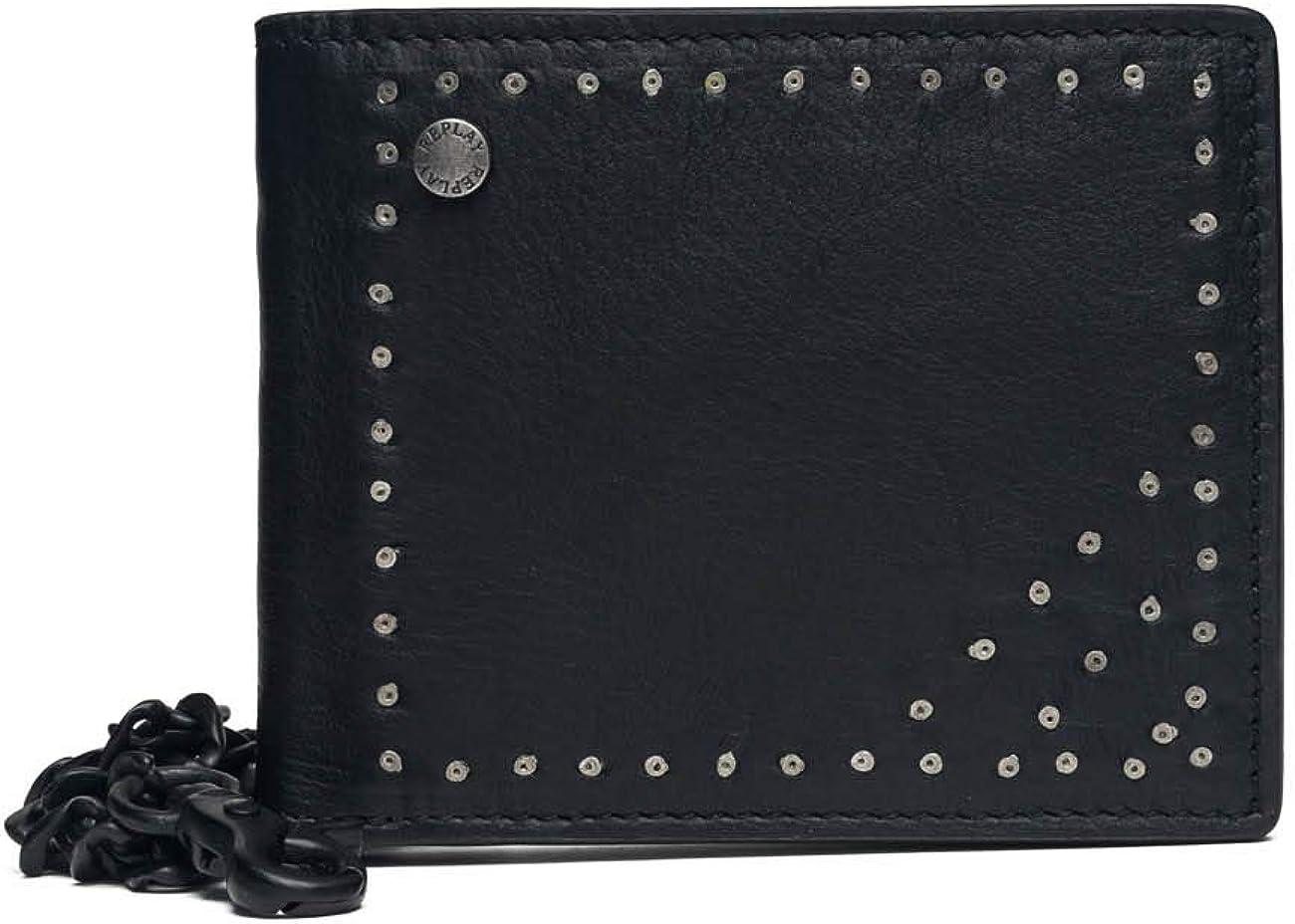 REPLAY - Fm5171.000.a3003d, Carteras Hombre, Negro (Black), 1x10x12,5 cm (W x H L)