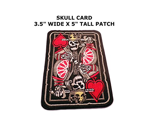 Biker Harley-Davidson Skull Playing Card Iron or Sew-on Patch (Pokemon Card Repeat Ball)
