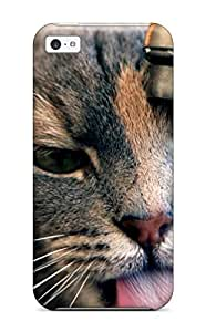 Brand New 5c Defender Case For Iphone (gray Cat Drinking Water From The Sink)