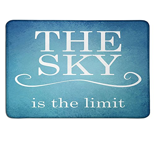 Price comparison product image Quote slimline mouse pad The Sky is the Limit Typography Message Motivation Quote Simple Design Illustrationart deco mouse pad Blue White