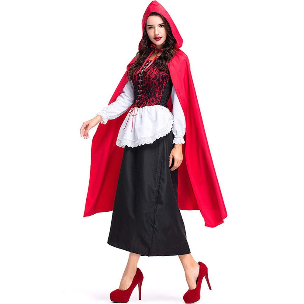 D_HOM Disfraz de Halloween para Mujer Caperucita Roja Disfraz de ...