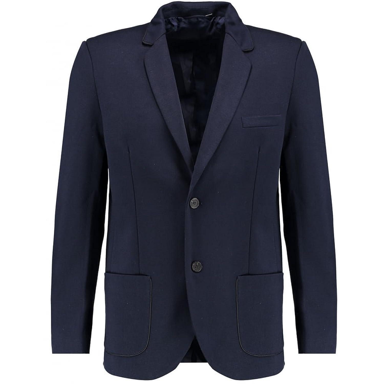 Blue Inc Mens Navy Slim Fit Jersey Blazer Long Sleeve Jacket Button Up Fastening