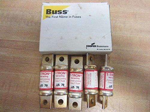 Bussmann JJS-70 Cooper T-Tron JJS70 Fuses 70 Amp Class T (Pack of 5) by Bussmann