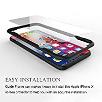iPhone X Screen Protector, ( 3 Packs) Fedciory iPhone X Tempered Glass Screen Protectors [3D Touch] Anti-Scratch Anti-Fingerprint Bubble Free installation frame by Fedciory