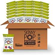 SkinnyPop Original Popped Popcorn, 100 Calorie Individual Bags, Gluten-free Popcorn,Non-GMO Vegan Snack, 0.65