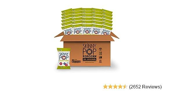 SkinnyPop Original Popped Popcorn, 100 Calorie Individual Bags, Gluten-free Popcorn, Non-GMO Vegan Snack, 0.65 Oz (Pack Of 30)