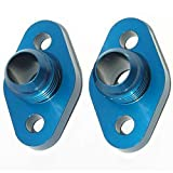 Meziere WP8116ANANB Blue 16AN Water Pump Port Adapter for Small Block Chevy - Pack of 2