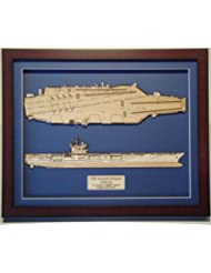 USS Roosevelt CVN 71 Wood Model
