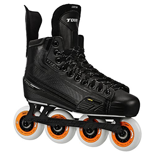 (TOUR HOCKEY CODE 3 SENIOR INLINE HOCKEY SKATES BLACK SIZE 7)