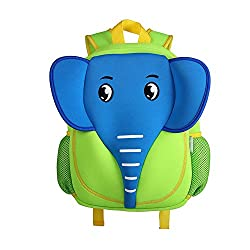 Yisibo Kids Backpack 3d Cute Zoo Cartoon School Toddler Sidesick Boys Girls Bags Elephant Blue