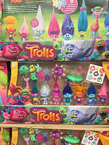 D W The DreamWorks Trolls Stylin' Troll Collection Pack