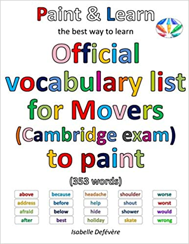 Book Official vocabulary list for Movers (Cambridge exam) to paint