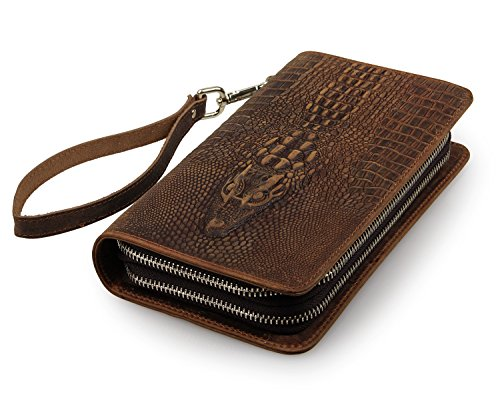 The Deal in Florida * Clutch Geldbörse Echtleder Tasche Alligator Krokodil Handmade