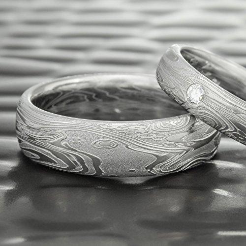 Men's Damascus Steel Domed Wedding Ring | TIDEPOOLS