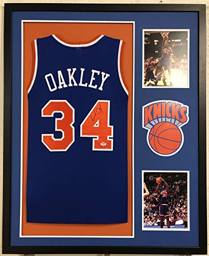 Charles Oakley Autographed New York Knicks Jersey PSA/DNA COA