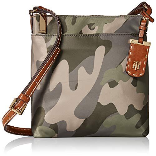 (Tommy Hilfiger Camo Crossbody Bag for Women Julia, Green)