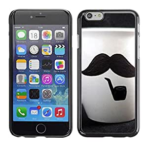 "Exotic-Star ( Cute Moustache Cup ) Fundas Cover Cubre Hard Case Cover para 4.7"" iPhone 6"