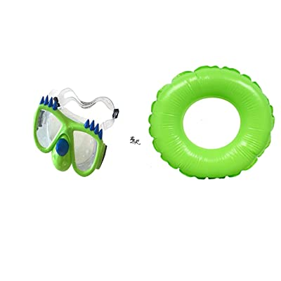 KAE Toy Boys Spring Summer Dinosaur Swim Mask (Bonus Race Car) Fun Pools Googles Backyard Outdoor Play Playtime Pool Lake Beach Water Inflatable Green Tube Tube Float - Bundle of 3: Toys & Games