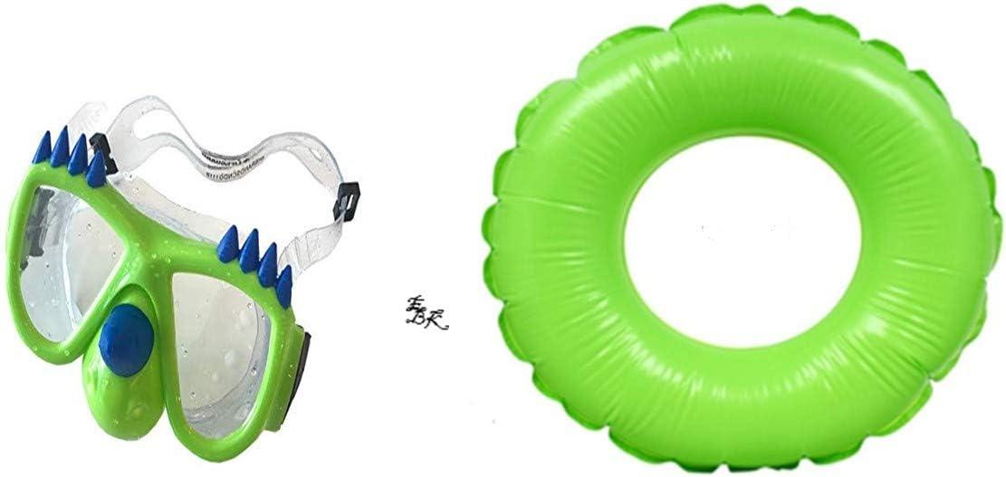 KAE Toy Boys Spring Summer Dinosaur Swim Mask (Bonus Race Car) Fun Pools Googles Backyard Outdoor Play Playtime Pool Lake Beach Water Inflatable Green Tube Tube Float - Bundle of 3