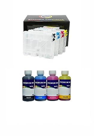4 Cartuchos Recargables Serie GC 31 para impresora Ricoh + ...
