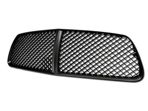 R L Racing For 2011 2014 Dodge Charger Matte Black Finished Vip Sport Mesh Hood Bumper Front Grille Grill Cover