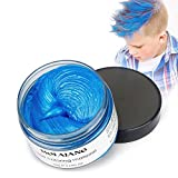 #6: INST Hair Wax Temporary Hair Color Wax 4.23oz MOFAJANG Natural Matte Hairstyle Coloring Easy Operate Free Styles Hair for Men Women and Children,Dye Wax for Party,Masquerade,Nightclub,Cosplay(Blue)