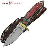 Red Deer Multicolored Pakka Wood Handle Hunting Knife Review