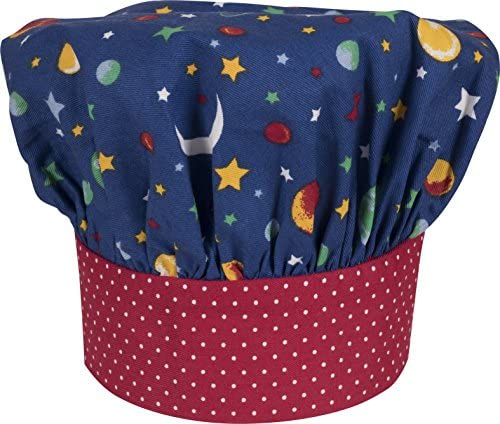 [해외]Handstand Kitchen Child`s 100% Cotton `Stars and Planets` Adjustable Band Chef`s Hat / Handstand Kitchen Child`s 100% Cotton `Stars and Planets` Adjustable Band Chef`s Hat