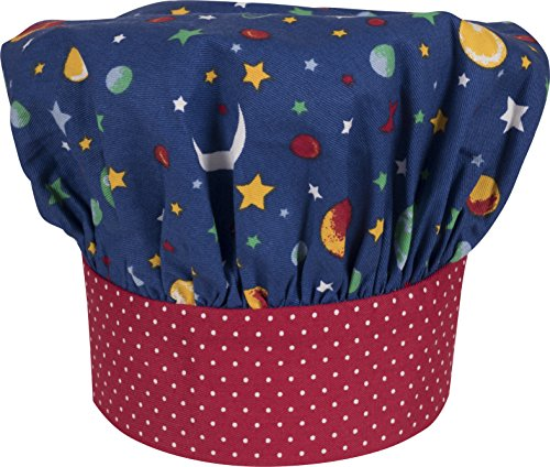 Handstand Kitchen Child's 100% Cotton 'Stars and Planets' Adjustable Band Chef's Hat