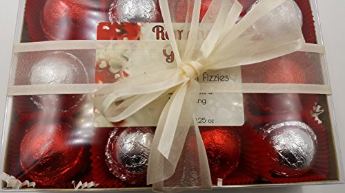 ROMANCE Luxury Bath Bomb Gift Set, 12 bath bombs 2.25 oz each, ultra-moisturizing, Valentine - Day Valentimes Whens