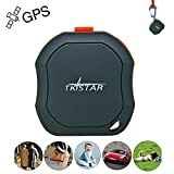 TKSTAR Portable GPS Tracking Device with SOS Button, Long Range Global Dog GPS Tracker Finder, Online Mini Tracker for The Elderly Kids Luggage Van Vehicle TK1000
