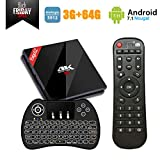 [TV Box 3GB 64GB Android 7.1] EstgoSZ Smart Google TV Box with Wireless Backlit Keyboard, Amlogic S912 Octa Core 64 bits CPU with 2.4G/5G Dual Band WiFi/Bluetooth 4.1/1000M LAN 4K Android Box EstgoSZ