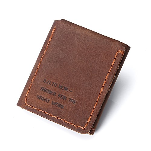 The Secret Life Of Walter Mitty Genuine Leather Wallet (Coffee) (Secret Life Of Walter Mitty Wallet Quote)