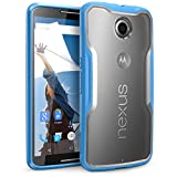 Nexus 6 Case, SUPCASE Google Nexus 6 Case [Unicorn Beetle Series] Premium Hybrid Bumper Case Cover for Motorola Nexus 6 (Frost Clear/Blue)
