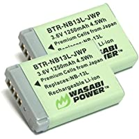 Wasabi Power Battery (2-Pack) for Canon NB-13L