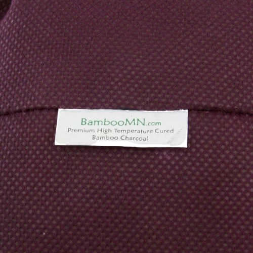 2x Burgundy Bamboo Charcoal Air Freshening Odor Absorber Cube: 500 grams of bamboo activated carbon in each cube shaped bag - by BambooMN