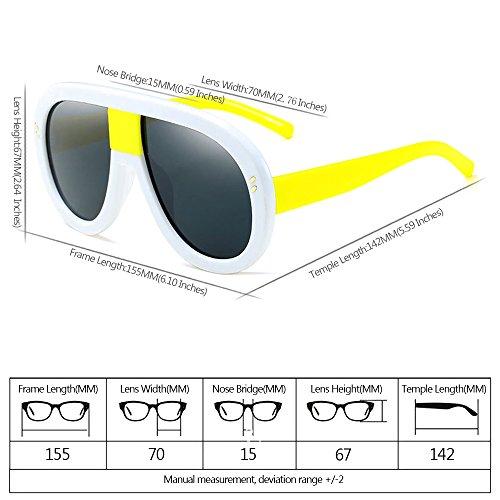 Retro las Estilo 02 Gafas Siameses No UV400 XFentech Gafas de para de Mujeres sol polarizadas tf8xRCxwq