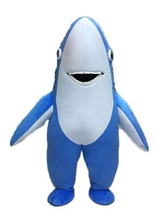 Divertido Disfraz de tiburón Azul para Adulto para cestas de ...