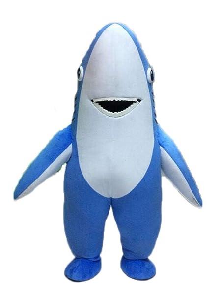 Amazon.com: Divertido disfraz de máscara de tiburón azul ...