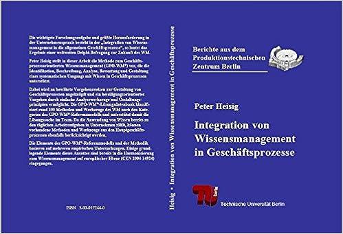 Integration Von Wissensmanagement In Geschaftsprozesse