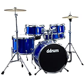 ddrum D1 PB D1 Junior Drum Set 5Piece, Police Blue 9