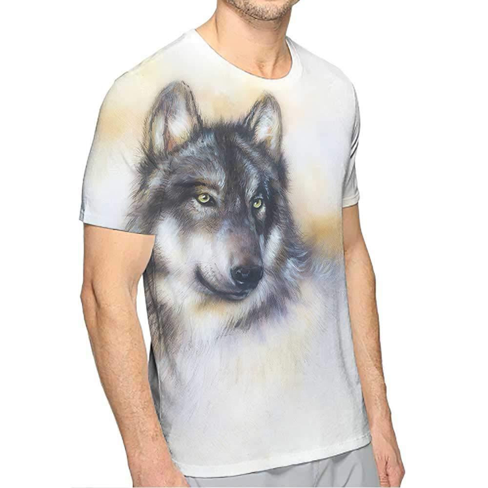 PRUNUS Short Sleeve T-Shirt for Men Fashion Mens 3D Top Tees