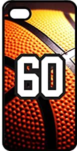 Basketball Sports Fan Player Number 60 Smoke Rubber Decorative iPhone 5/5s Case