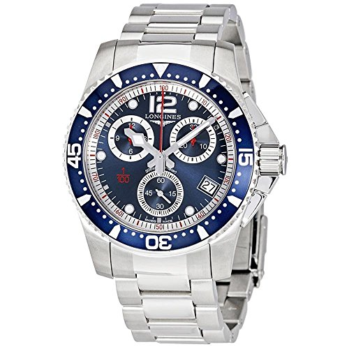 Longines HydroConquest - L3.743.4.96.6 - Divers Chronograph Blue Dial Blue Bezel Quartz Men's
