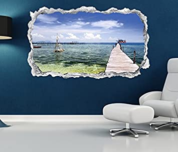 3d Wandtattoo Durchbruch Steg Meer Ostsee Wasser See Meer Wand